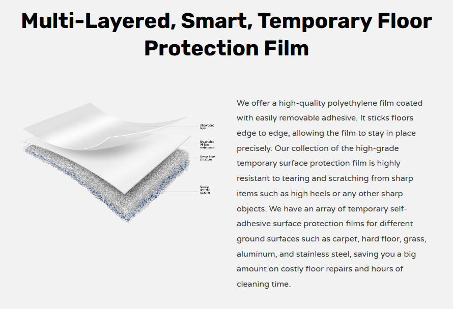 Screenshot_2021-01-21 Temporary Waterproof Floor Surface Protection Film Temporary Ground Protection Mat